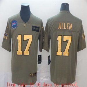 Men's Buffalo Bills Josh Allen Jersey Olive